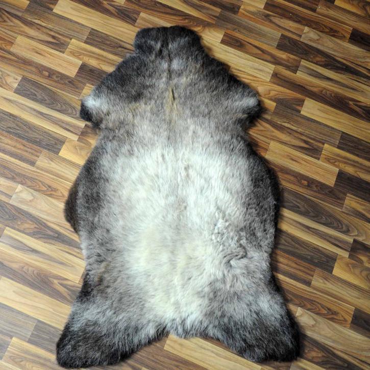 XXL ÖKO Island Schaffell beige schwarzbraun 125x80 #7426