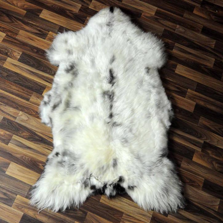 XL ÖKO Island Schaffell beige schwarzbraun 115x80 #7427