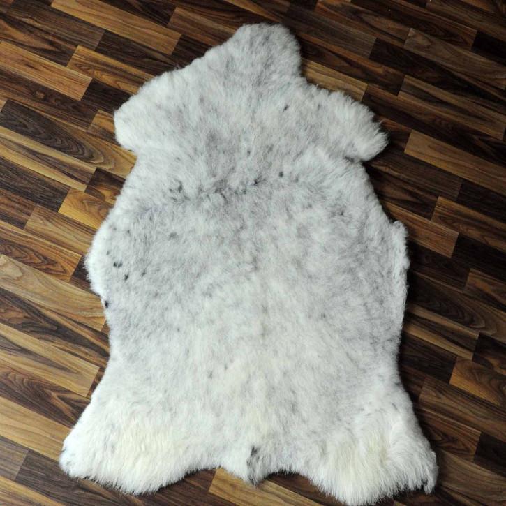 XL ÖKO Island Schaffell schwarzbraun beige 115x75 #7429