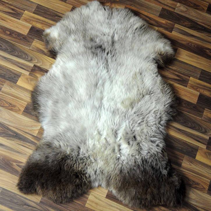 XL ÖKO Island Schaffell schwarzbraun beige 110x75 #7435