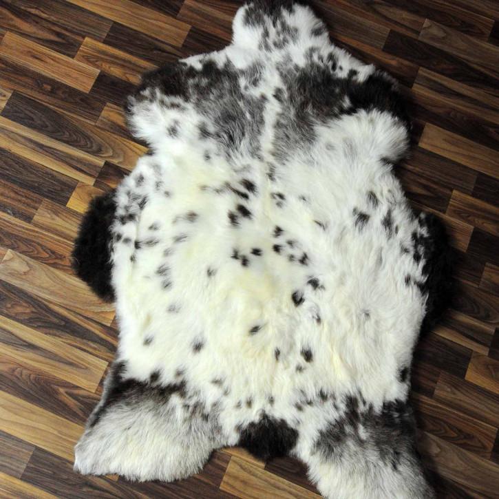 XXL ÖKO Island Schaffell schwarzbraun beige 120x75 #7436