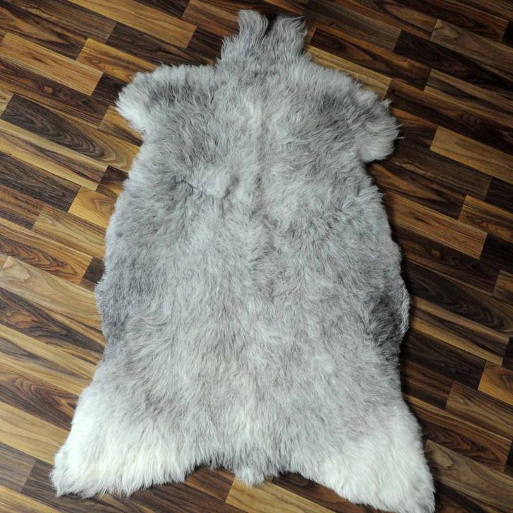 XXL ÖKO Island Schaffell schwarzbraun beige 125x80 #7437