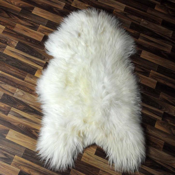 ÖKO Island Schaffell weiß schwarz geflammt 100x60 #7520