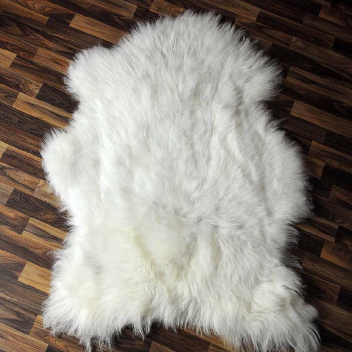 XL ÖKO Island Schaffell schwarz braun geflammt 115x75 #7583