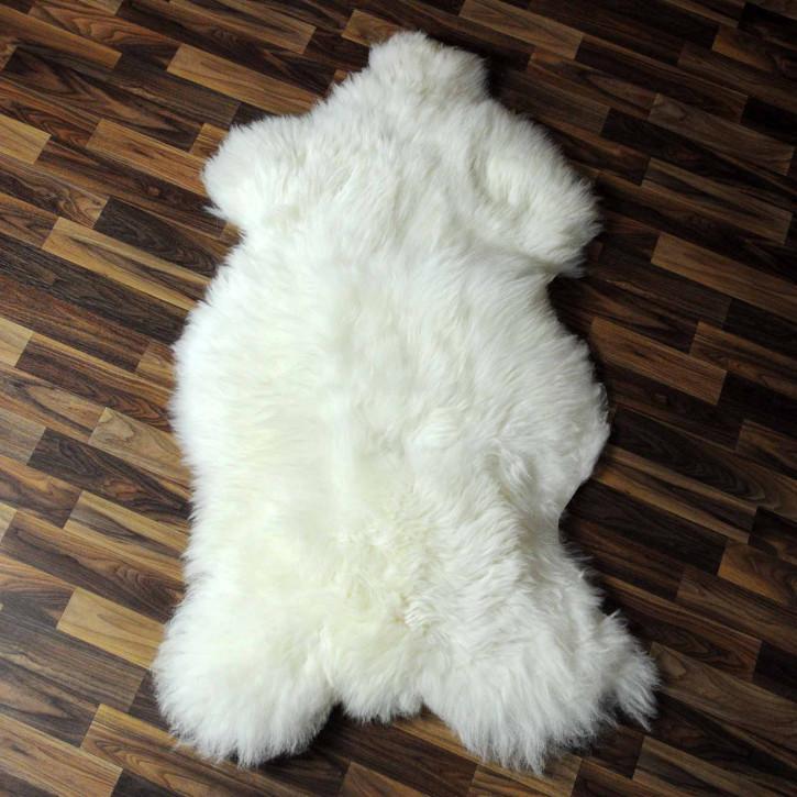 XL ÖKO Island Schaffell schwarzbraun grau 115x75 #7603