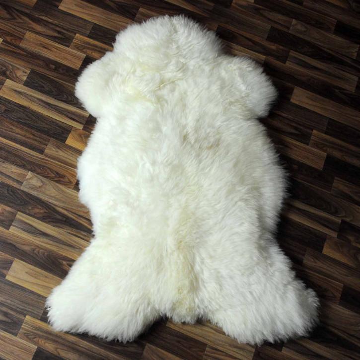 XXL ÖKO Island Schaffell schwarzbraun weiß 125x75 #7604