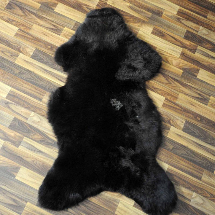 XXL ÖKO Island Schaffell schwarzbraun grau 120x90 #7650