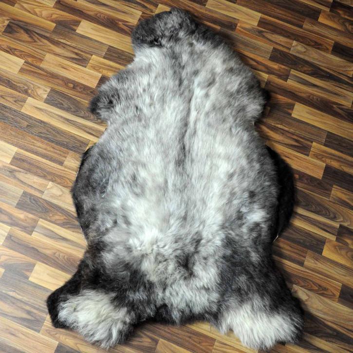 XXL ÖKO Island Schaffell schwarzbraun weiß 120x80 #7651