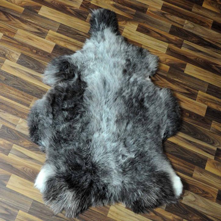 XXL ÖKO Island Schaffell schwarzbraun weiß 120x75 #7653