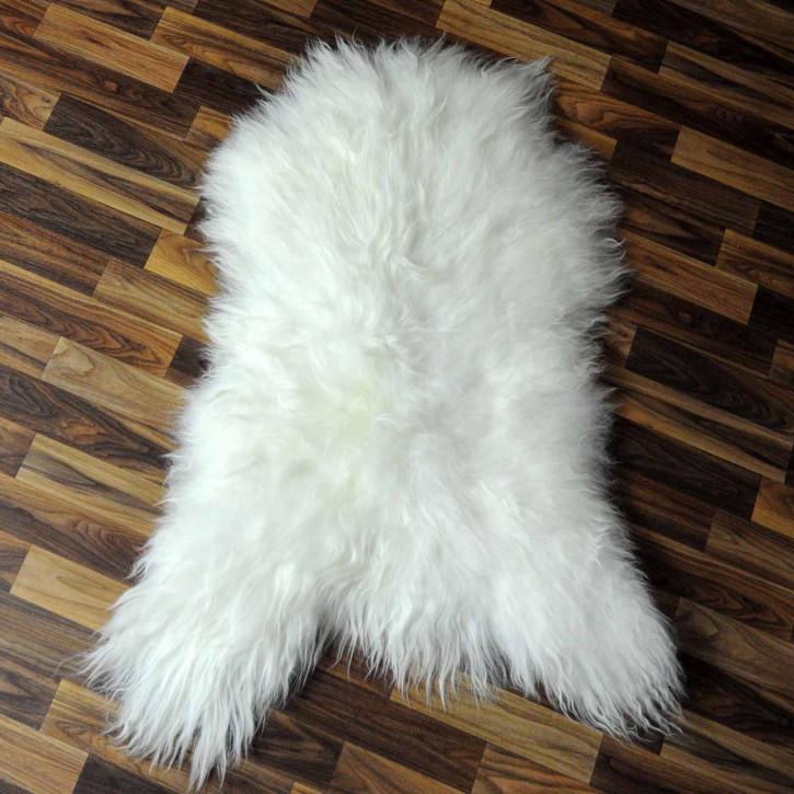 XXL ÖKO Island Schaffell schwarzbraun weiß 125x80 #7729