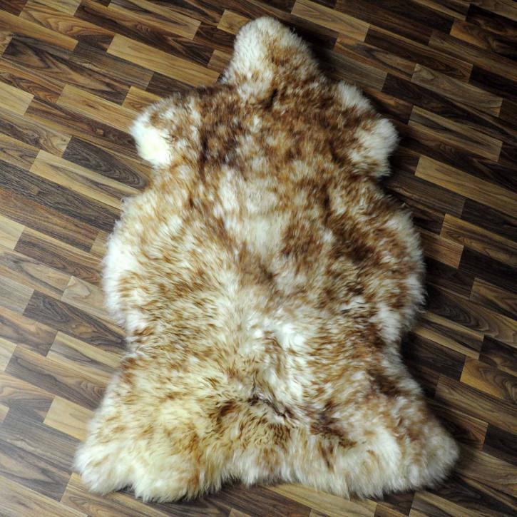 XL ÖKO Island Schaffell schwarzbraun grau 115x80 #7736