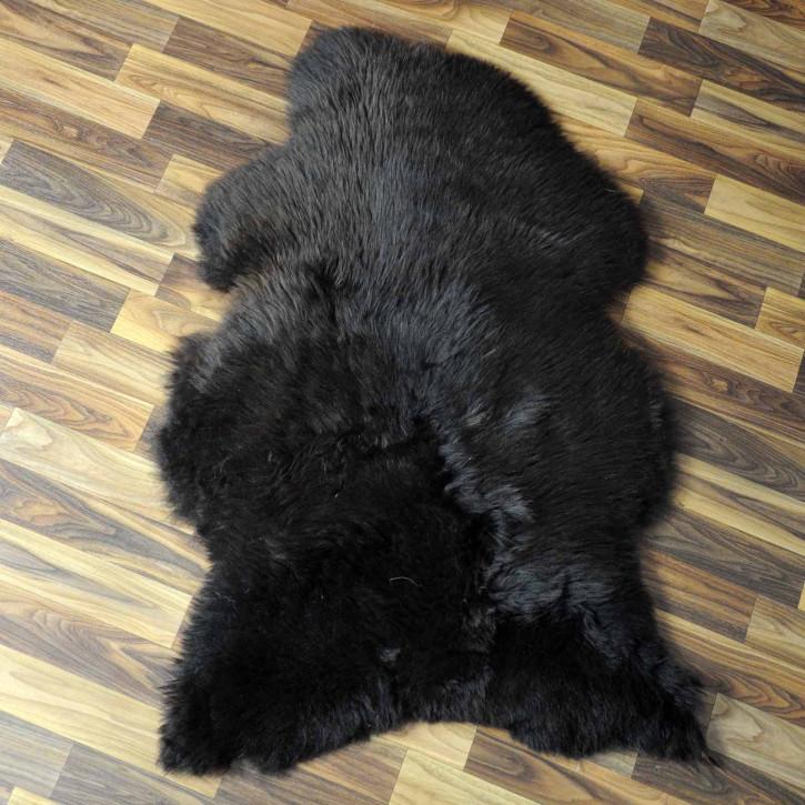 XL ÖKO Island Schaffell schwarzbraun 110x70 #7756