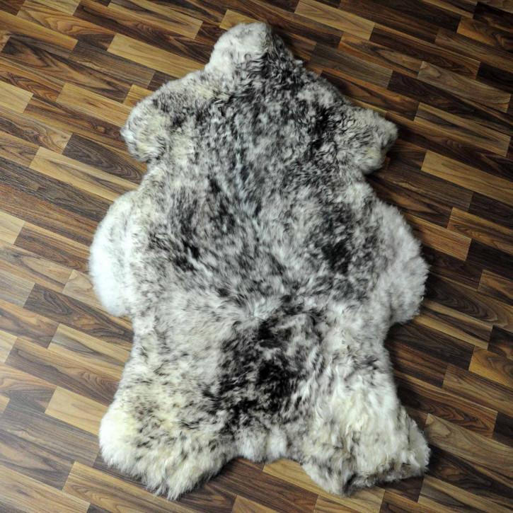 XXL ÖKO Island Schaffell schwarzbraun weiß 120x70 #7787
