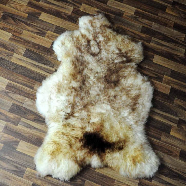 XXXL ÖKO Island Schaffell schwarzbraun weiß 130x85 #7789