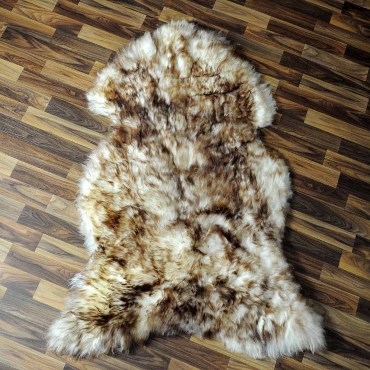 XXL ÖKO Schaffell Fell creme weiß braun 120x80 geschoren Eisbär #7799
