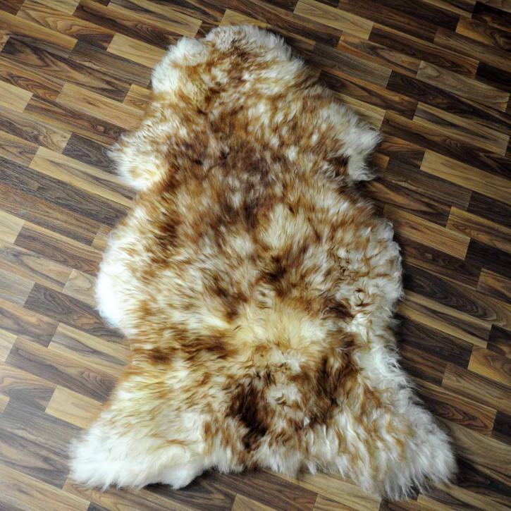 XL ÖKO Schaffell Fell creme weiß braun 115x80 geschoren Eisbär #7800