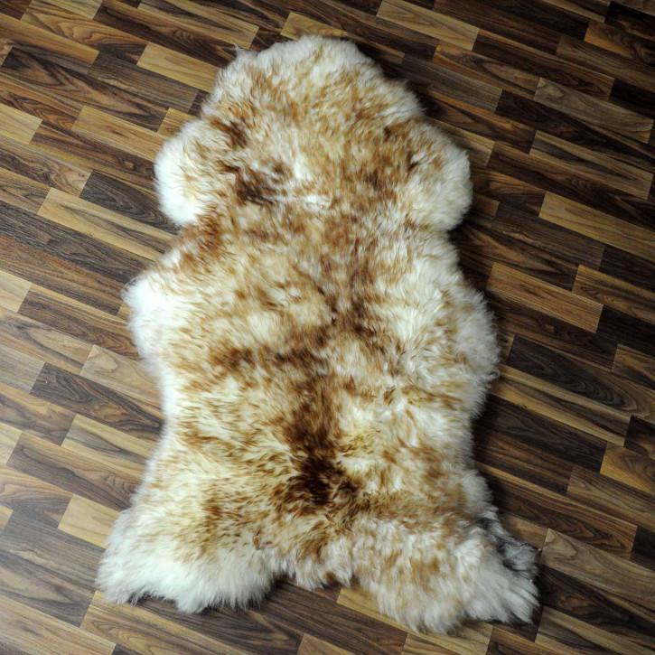 XL ÖKO Schaffell Fell creme weiß braun 115x85 geschoren Eisbär #7804