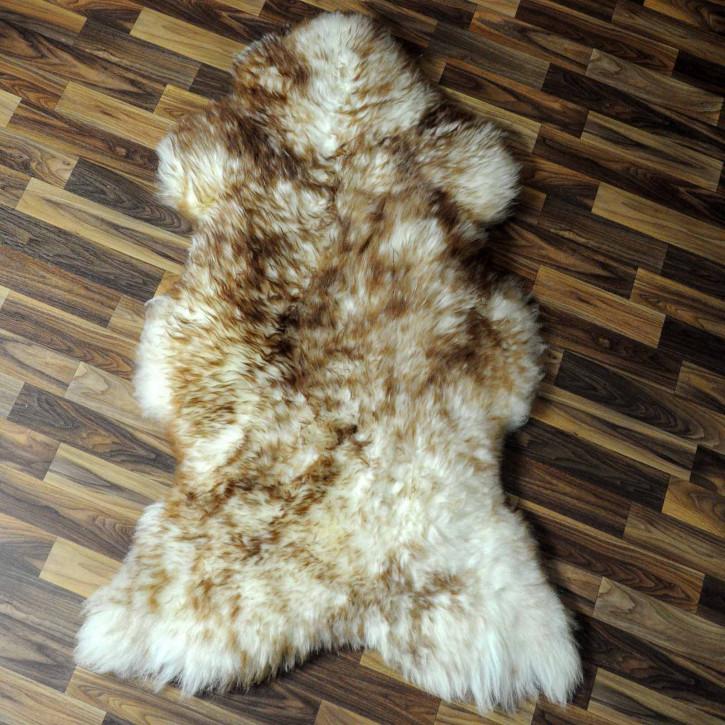 XL ÖKO Schaffell Fell creme weiß braun 115x75 geschoren Eisbär #7806