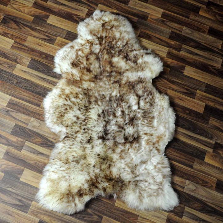 XXL ÖKO Schaffell Fell creme weiß braun 120x80 geschoren Eisbär #7807