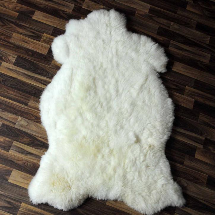 XXXL ÖKO Island Schaffell beige schwarzbraun 130x80 #7964