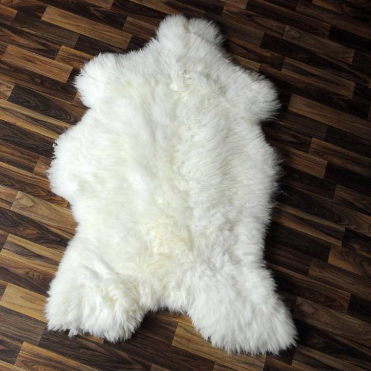 ÖKO Schaffell Fell Lammfell braun grau 105x65 Geschenk #7985