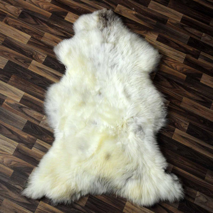XL ÖKO Schaffell weiß braun geflammt 115x75 #8043