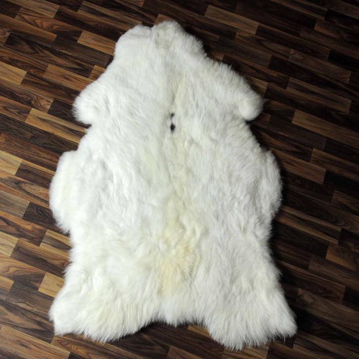 XXXL ÖKO Schaffell Fell creme weiß 135x80 sheepskin #8054
