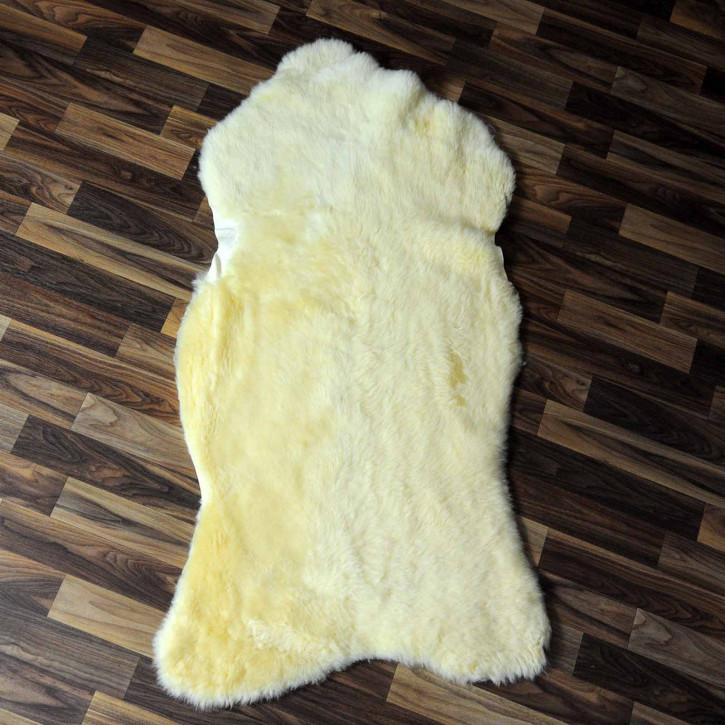 XXL ÖKO Schaffell Fell creme weiß 120x80 sheepskin #8113