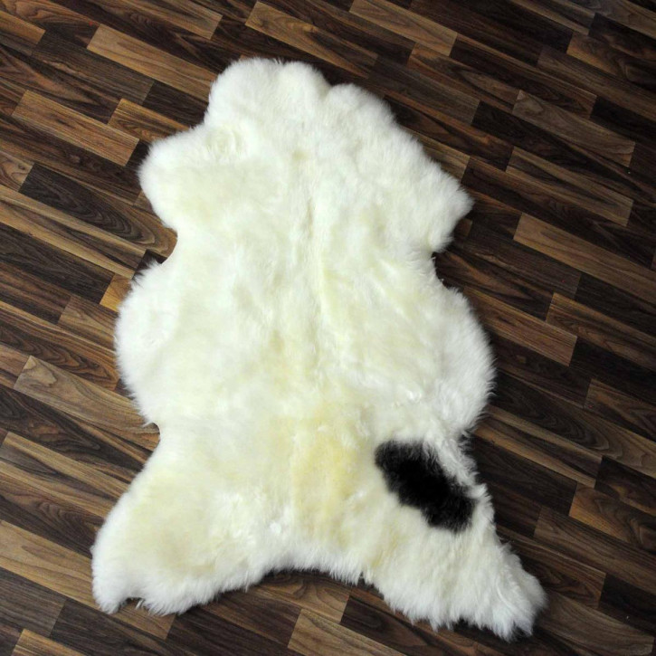 XXXL ÖKO Schaffell Fell creme weiß braun 135x80 skin #8116