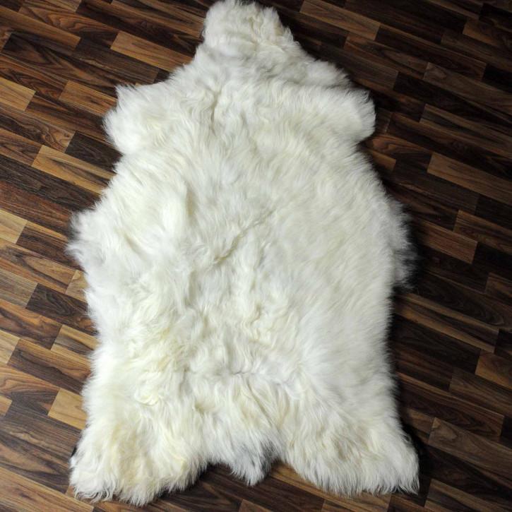 XXL ÖKO Schaffell Fell creme weiß 120x85 sheepskin #8188