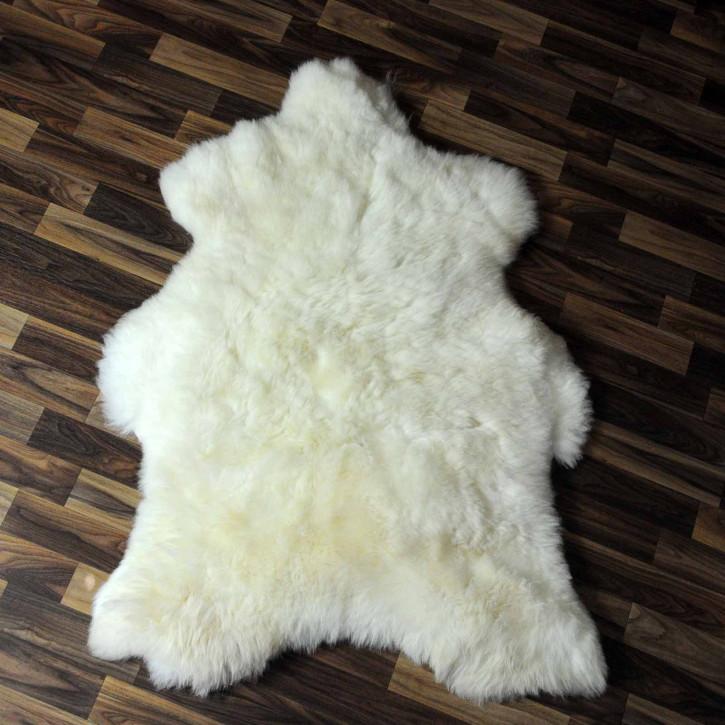 XL ÖKO Island Schaffell beige schwarzbraun 115x75 #8246