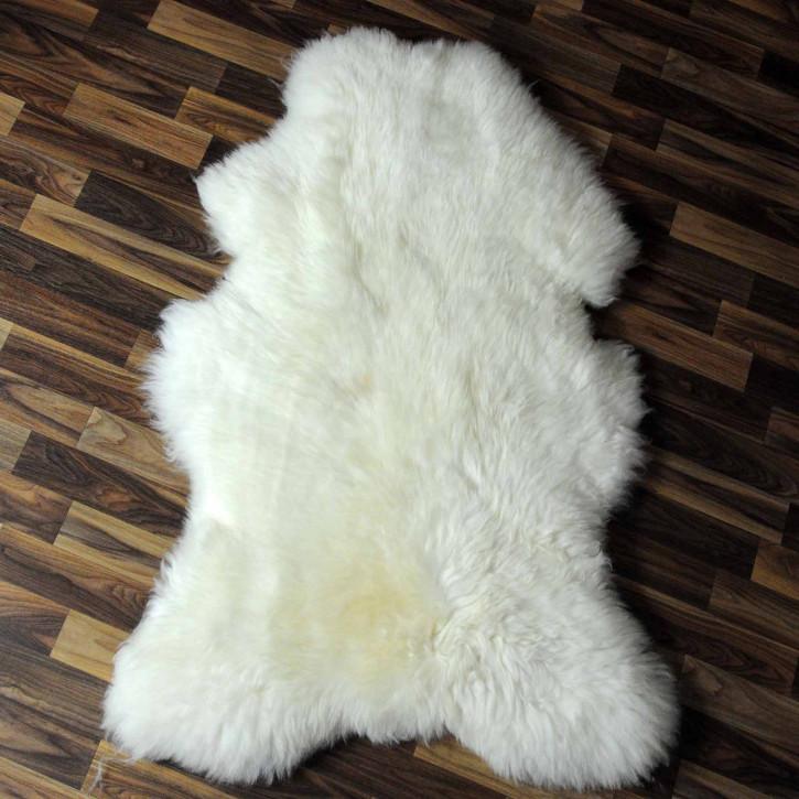 XL ÖKO Island Schaffell beige schwarzbraun 110x70 #8263