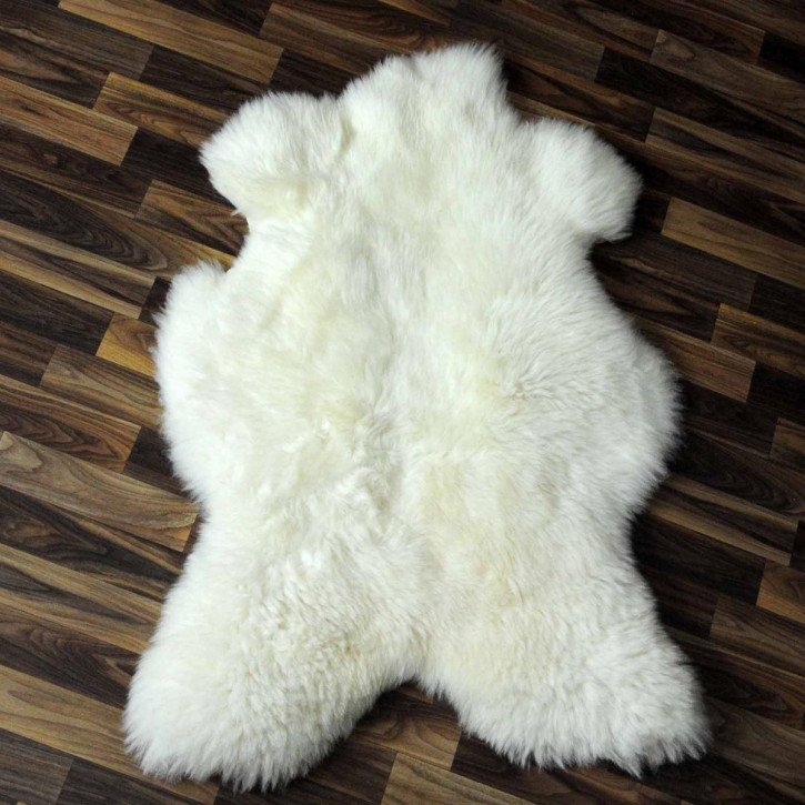 XXL ÖKO Island Schaffell beige schwarzbraun 125x80 #8265