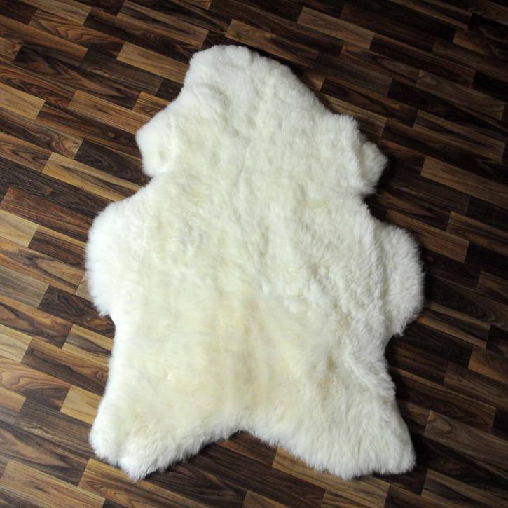 XL ÖKO Island Schaffell beige schwarzbraun 115x65 #8269