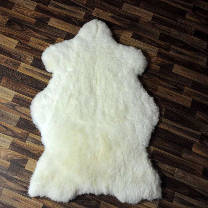 XL ÖKO Schaffell Fell creme weiß  115x80 geschoren Eisbär #8273