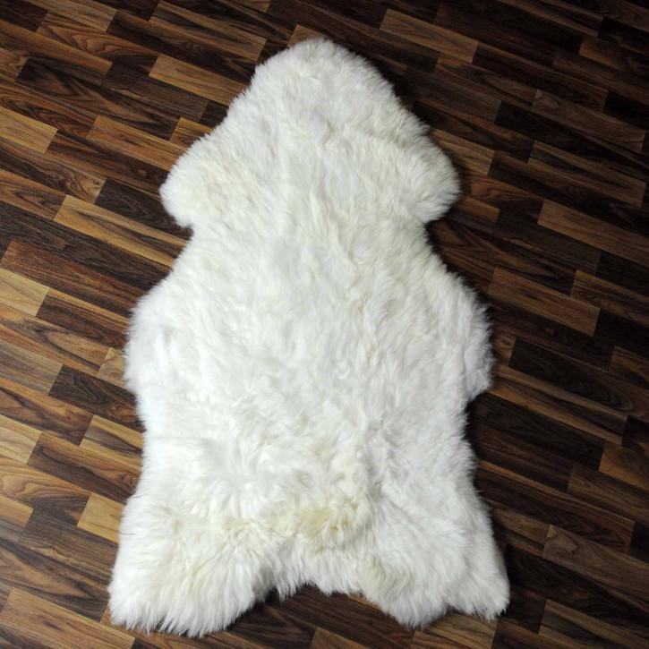 XL ÖKO Schaffell Fell creme weiß braun 115x75 geschoren Eisbär #8276