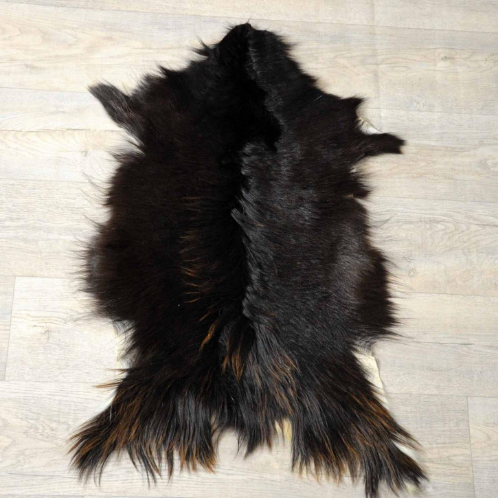 XXL ÖKO Island Schaffell beige schwarzbraun 120x70 #8357