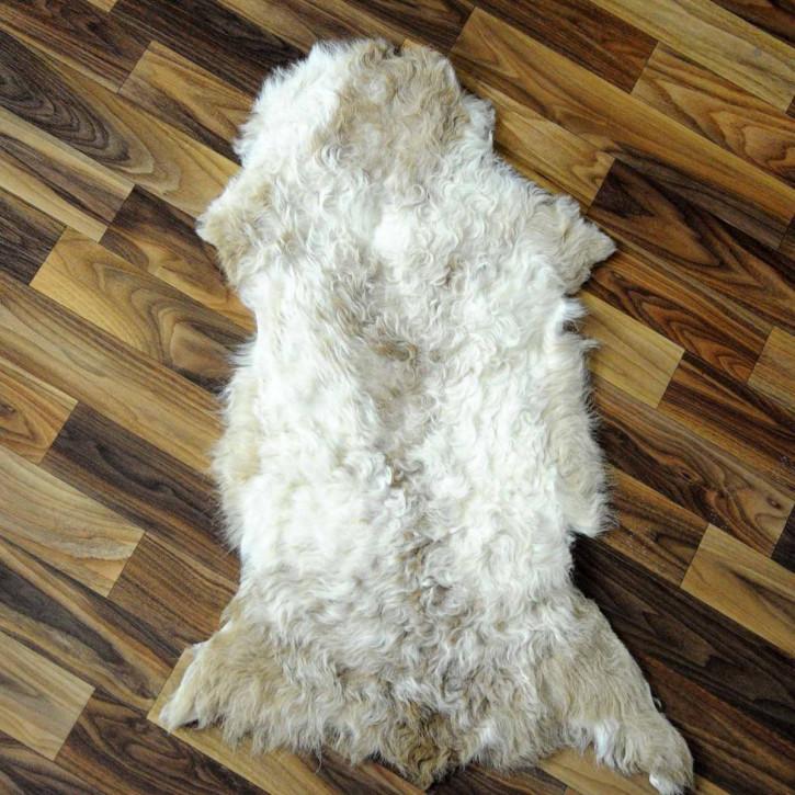 XXL ÖKO Schaffell Fell Lammfell braun grau beige 120x70 #9703