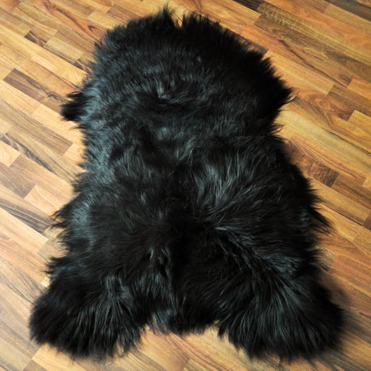 XXL ÖKO Island Schaffell Lammfell schwarz 110-120cm x 70-80cm