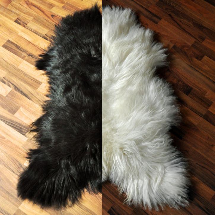 ÖKO Island Schaffell Lamm Fell schwarz, dunkelbraun oder naturweiß