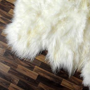 XL ÖKO Island Schaffell schwarzbraun weiß 110x65 #3247