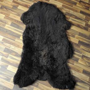 XXL ÖKO Island Schaffell beige schwarzbraun 120x80 Fell #7753